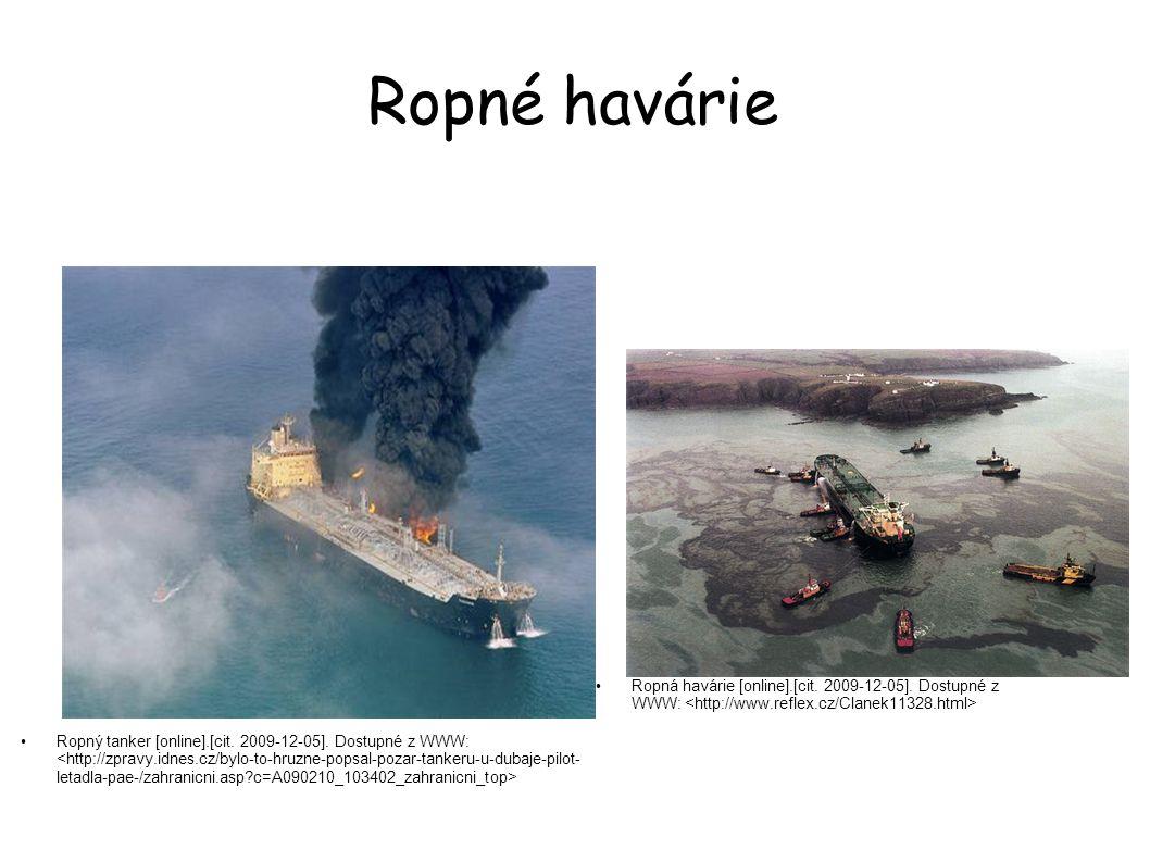 Ropné havárie Ropná havárie [online].[cit. 2009-12-05]. Dostupné z WWW: <http://www.reflex.cz/Clanek11328.html>